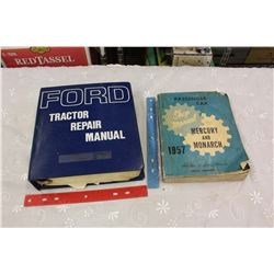 Ford Tractor Repair Manual & A 1957 Mercury&Monarch Shop Manual
