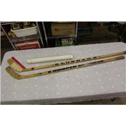 Hockey Sticks (2)& Saskatchewan Related Posters (3)
