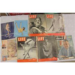 Life Magazines (1938,1941,1942,1944)& Other Vintage Magazines