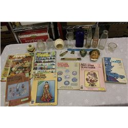 Lot of Vintage Misc (Bottles, Antique Guides, Etc)