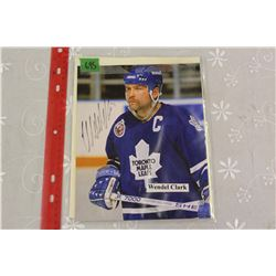 "Wendel Clark (Toronto Maple Leafs) – Autographed 8"" x 10"" Photo"