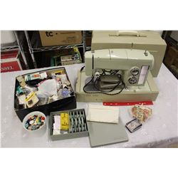 Sears Kenmore Sewing Machine w/Attachments&Supplies