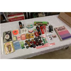 Lot of Misc (Decks of Cards, Flashlights, Crochet&Macrame Booklets, Etc)