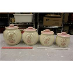 Set of 4 Ceramic Canisters