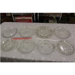 Lot of Glass Serving Dishes/Trays