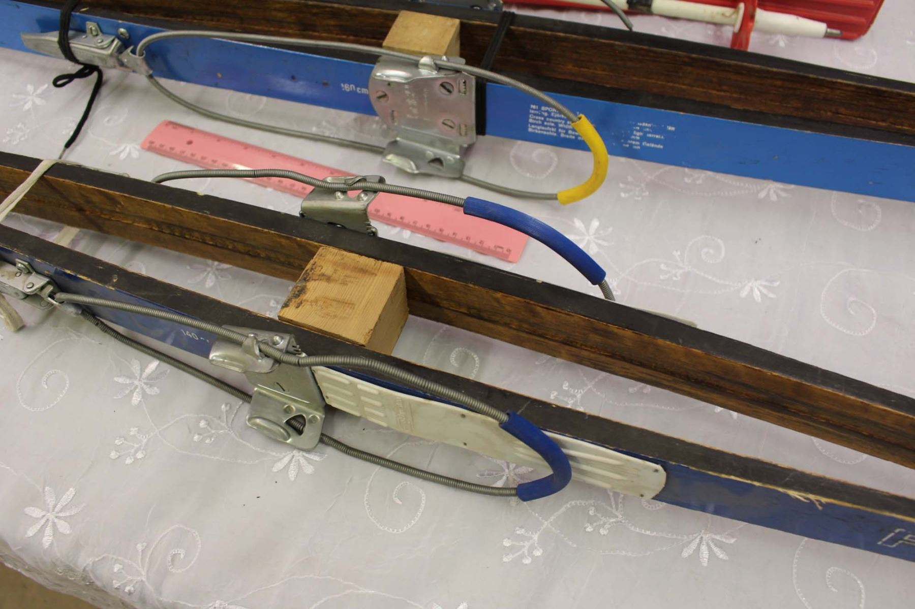 Vintage Cross Country Skis 3 Pairs2 Wooden Skimaster
