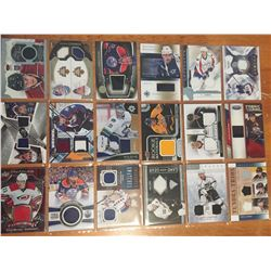 Lots Of High End Autographed Or Jersey Hockey Cards (18)