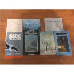 Lot Of John V. Hicks Books (Fives And Sixes Signed Copy)