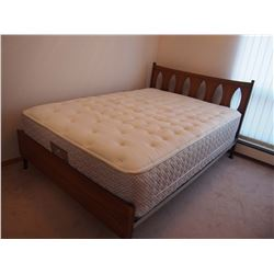 """Sealy Bedspring And Mattress With Endboard (76""""x52"""")"""