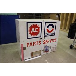 "GM Delco Service Station Metal Wall Cabinet (25.5""x14""x30"")"