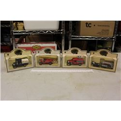 Oil Company Small Toy Trucks (4)(Made in England)