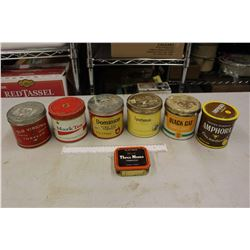 Lot of Old Tobacco Tins (7)
