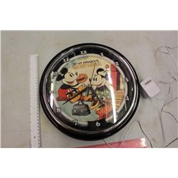 Walt Disney Mickey Mouse Neon Wall Clock (Working)