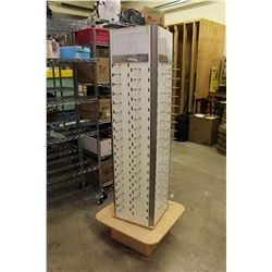 "Spinning Glasses Display Rack, 70"" Tall"