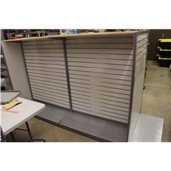 "Shelving Display Rack System (Many Pieces, Very Modular) (Max 97"" Long, 61"" Tall)"