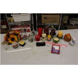 Lot of Candle Related Items