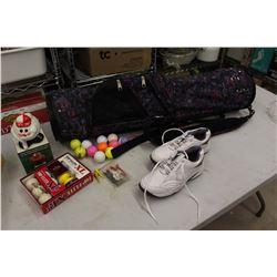 Women's Golf Bag, Golf Balls& Golf Shoes (Size 7 Male)