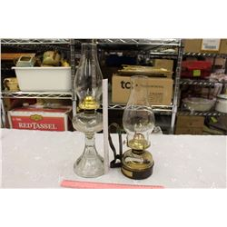 Vintage Glass Coal Oil Lamps (2)
