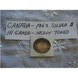 Canada 1963 Silver 1 Dollar