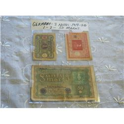 Germany Notes (3) (1919-1920)