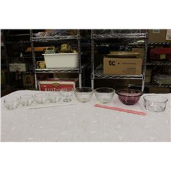 Lot of Glass Dishes (3 Pyrex Pieces)