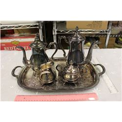Vintage S.P Brass/Silver Set (5 Piece Coffee/Tea Set)