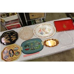 Lot of Serving Trays