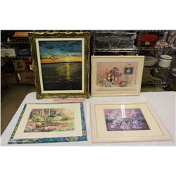 Lot of Frames w/Pictures (4)