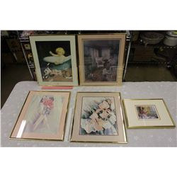 Lot of Frames w/Pictures (5)