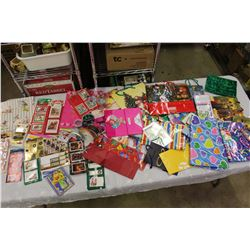 Lot of Gift Bags & Stickers (Mostly Christmas Related)