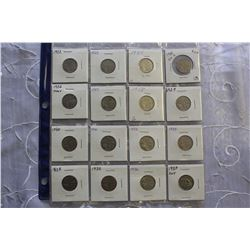Lot of 5 Cent Canada Nickels (Various Dates 1922-1937)
