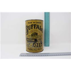 Reproduction Buffalo Motor Oil Tin (1 Imperial Quart)(Empty)