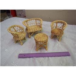 Miniature Wicker Furniture Set