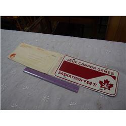 Jeux Canada Games Saskatoon, Feb 71 License Plate