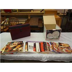 Lot Of Cookbooks w/ Filing Sorter
