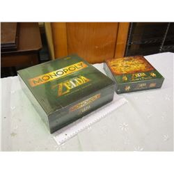 Pair Of Sealed Zelda Items (Monopoly And Collectors Puzzle)