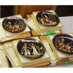 Lot Of Vintage Collector Plates (4) (Egyptian) All With Certificates Of Authenticity
