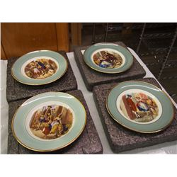 Lot Of Vintage Collector Plates (4) (London)