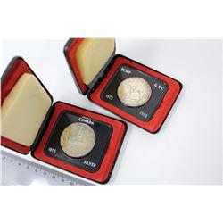 Canada Silver Dollars (2): 1972 & RCMP 1873-1973