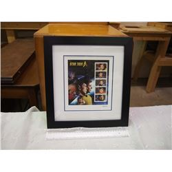 Limited Edition Framed Stamp Pane For Star Trek 50th Anniversary, Canada Post (0652 out of 1701)