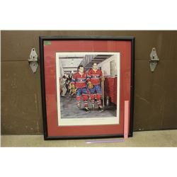 "Framed Hockey Print, Daniel Parry, Numbered Print, Signed (29""x 32"")"