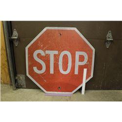 """Metal Stop Street Sign, 30""""x30"""""""