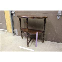 "Vintage Half Moon Table, 24""x24""x12"""