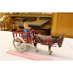 Vintage Red River Cart