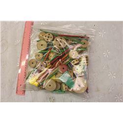 Bag Full Of Tinkertoy Parts