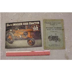 Vintage Massey Harris Part List And Case Brochure