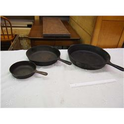 Lot Of Cast Iron Pans (3)
