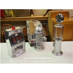 Lot Of Decanters (3) (Slot Machine, Hydrants, Gas Pump)