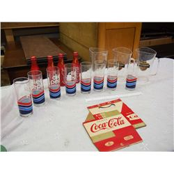 Lot Of Advertising Cups And Bottles (Diet Pepsi, Miller, CocaCola)