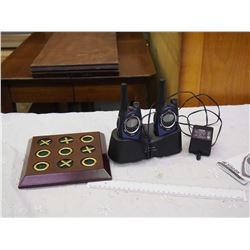 Walkie Talkies (Not Working) And X & Os Board Game